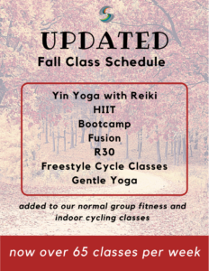 Fall Class Schedule at Stow Fitness Center
